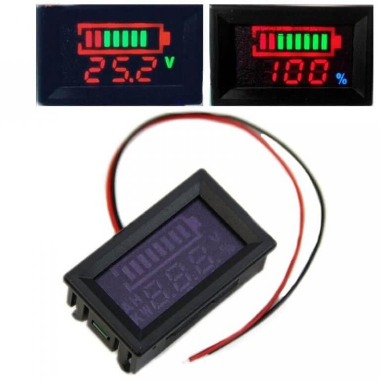 LITHIUM SUR MESURE - Indicateur de capacité batterie 12-70V