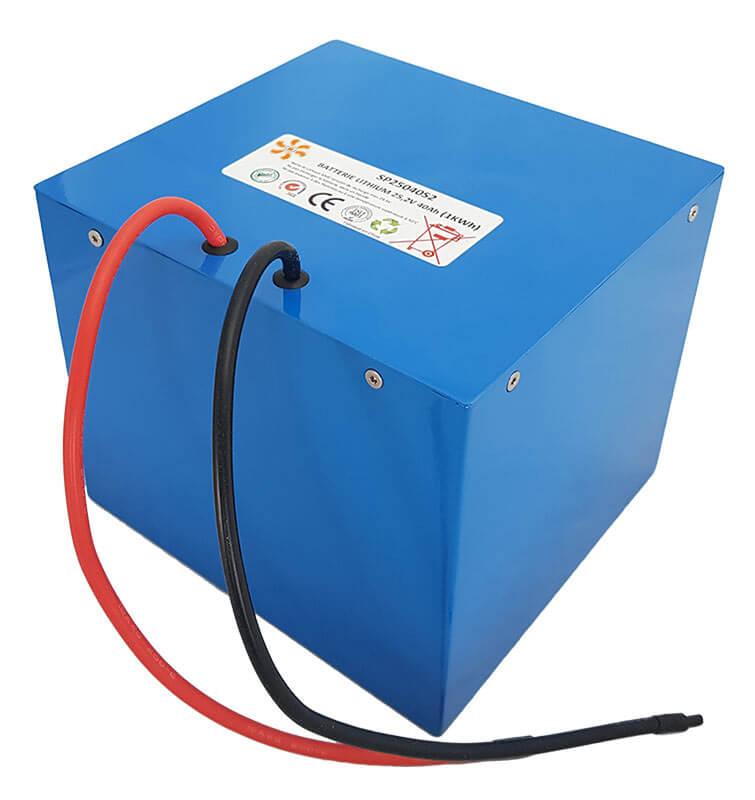 Batterie lithium sur mesure 25,2V-40Ah-1kWh