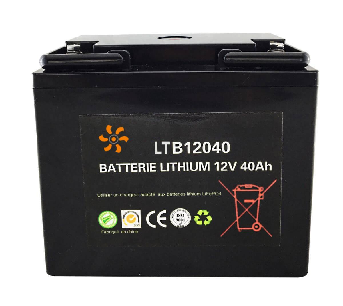 Batterie lithium 12V 40Ah