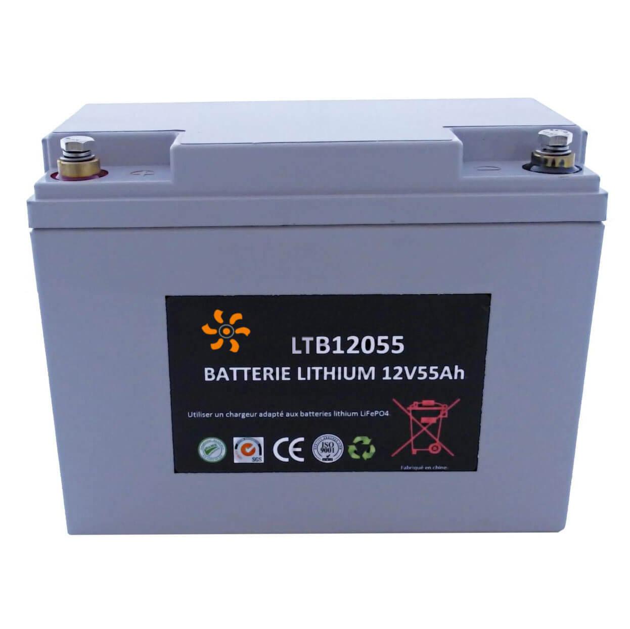 Batterie lithium 12V 55Ah