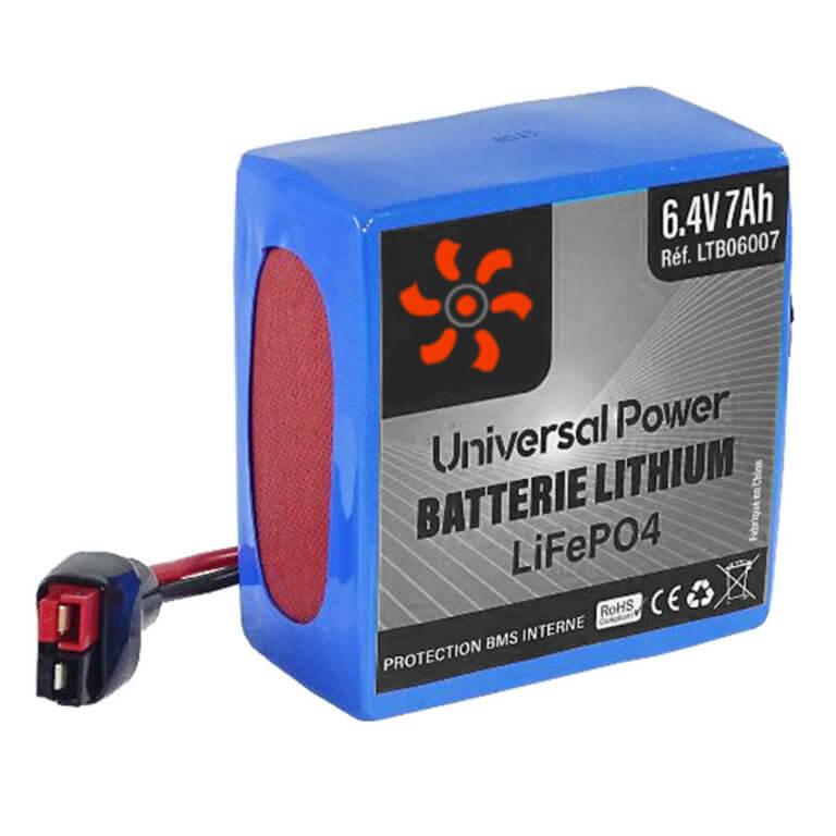 batteries lithium sur mesure et standard-6V-7Ah