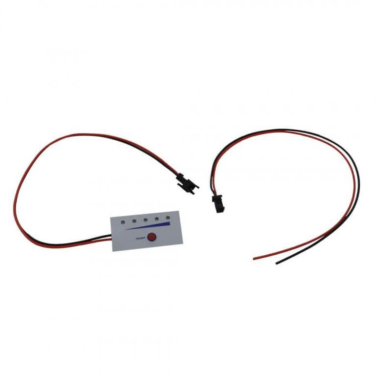 LITHIUM SUR MESURE - Indicateur de niveau de charge batterie lithium-12V