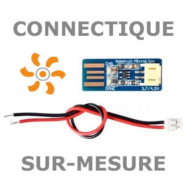 Connectique sur mesure pour batteries Lithium